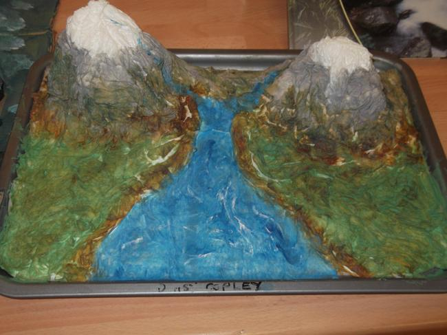 Mountains, valleys and rivers