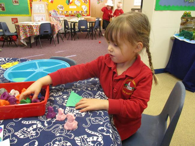 Counting out objects to match to numbers