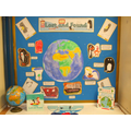 Y1 classroom display (Lost and Found)