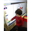 Using the smart board - butterfly picture