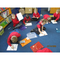 Practising writing the letters c and a