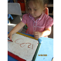 Learning to form numerals
