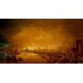 London engulfed in flames.
