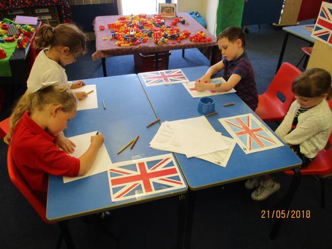 Making Union Jack flags