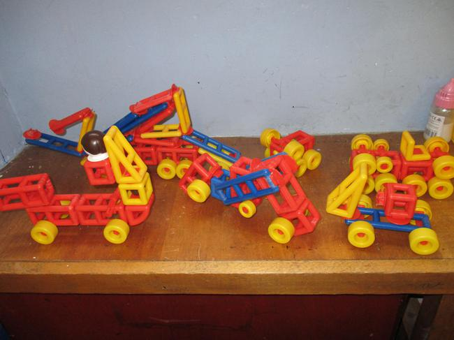 Our finished wheeled toy models.