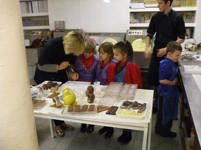 Making coloured chocolate!