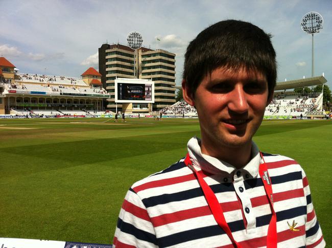 Mr Blake enjoying a spot of cricket in Nottingham.
