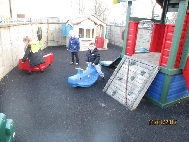 Fun on the see-saws outside