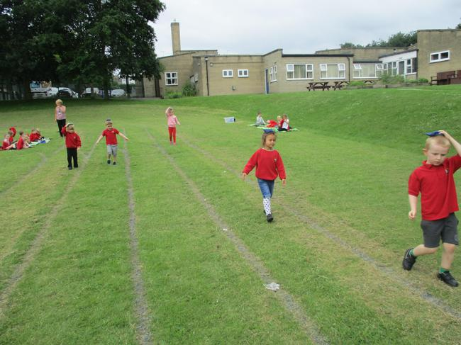 Sports day practice!