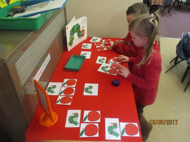 Our Hungry Caterpillar challenge.