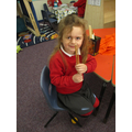 Using chop sticks in the role play area!