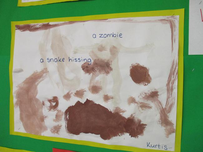 We painted pictures of noisy things.