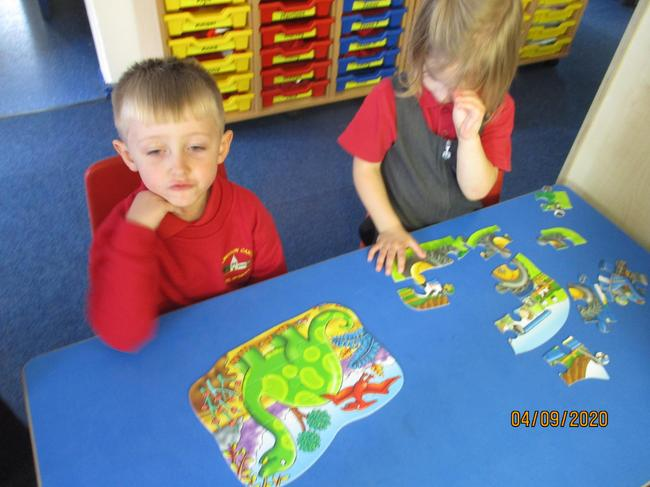working together to complete a jigsaw is brilliant for fine motor control
