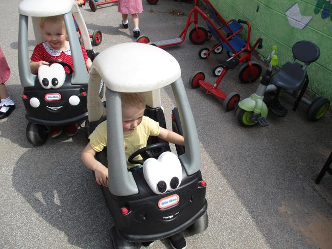 Practicing our driving skills!