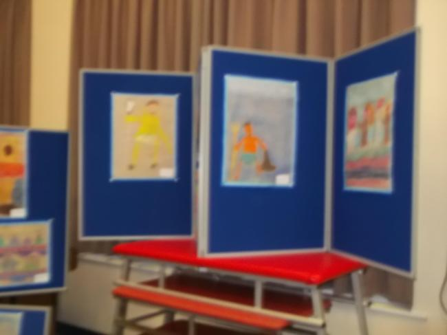 We sold our artwork in the Art Gallery
