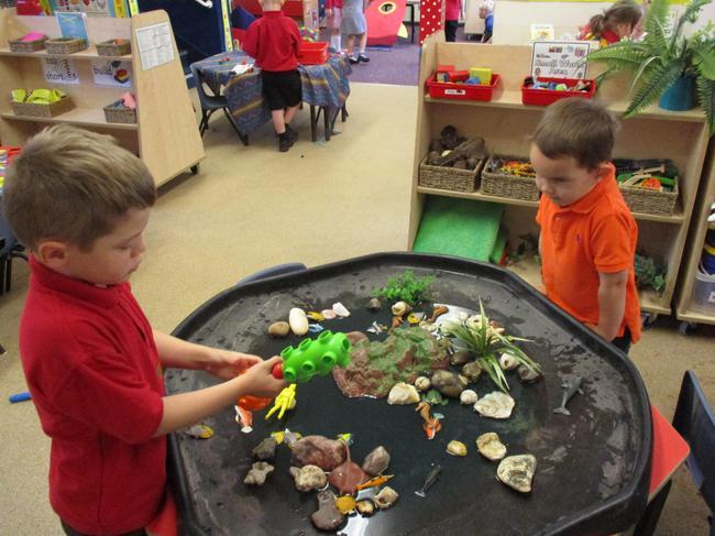 Small world play: Rock pool