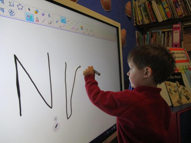 Mark making on our new smart board!