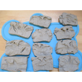 Our clay dinosaur fossils