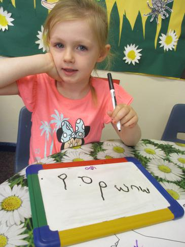 Learning to write words!