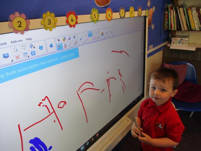 Name writing practice.