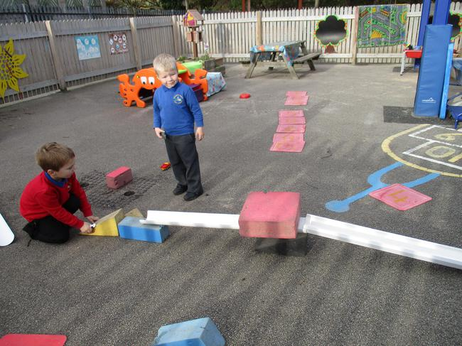 We made ramps for our wheeled toys.