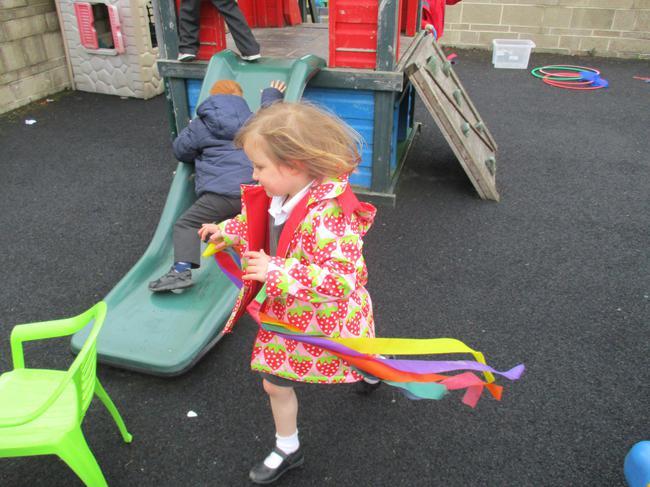 Ribbon dancing!
