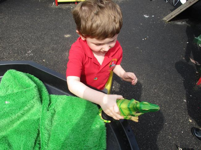 Using our small world dinosaurs