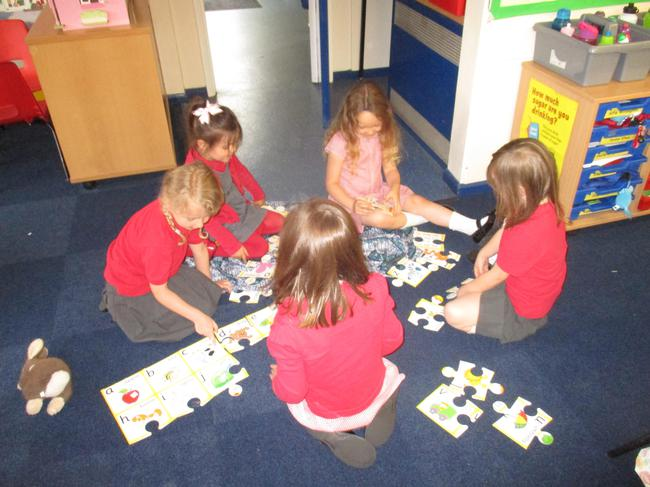 We worked together to do a  difficult train puzzle