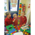 Our tower is taller than us