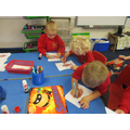 We read the book Supertato! We made Supertatoes