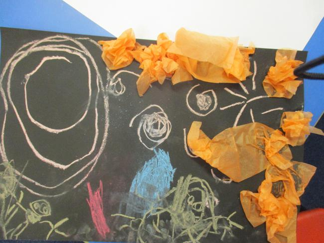 Look at our chalk and tissue bonfire night picture