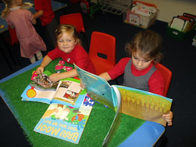 We read 'The little red hen and the grain of wheat