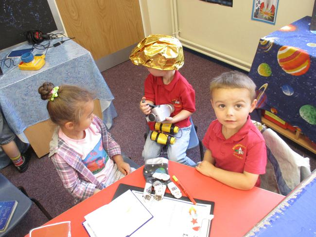 Our new role play area - Space rocket!