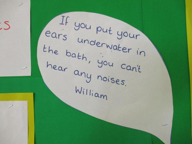 We talked about why our ears ars important.