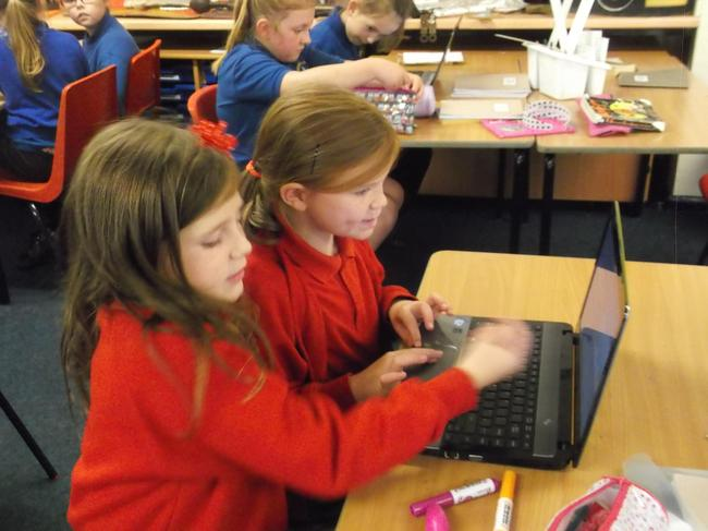 Learning programming through Scratch.