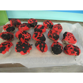 Our clay ladybirds!
