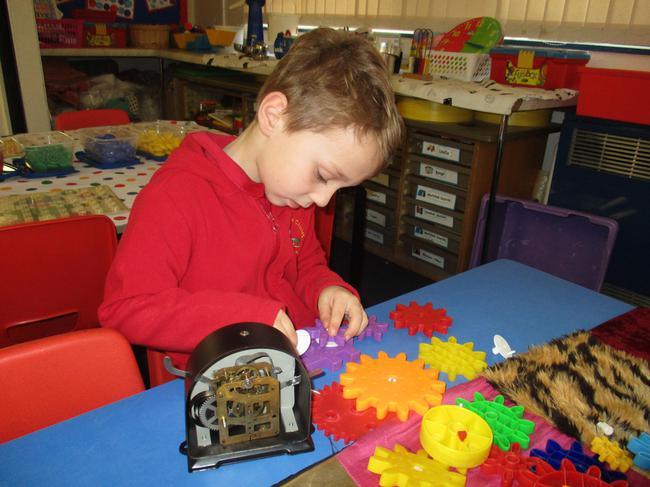 We looked at how clocks work using cogs.