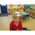 The children made space helmets