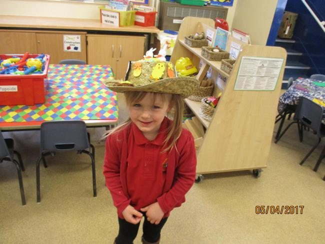 Alana's beautiful Easter Bonnet!
