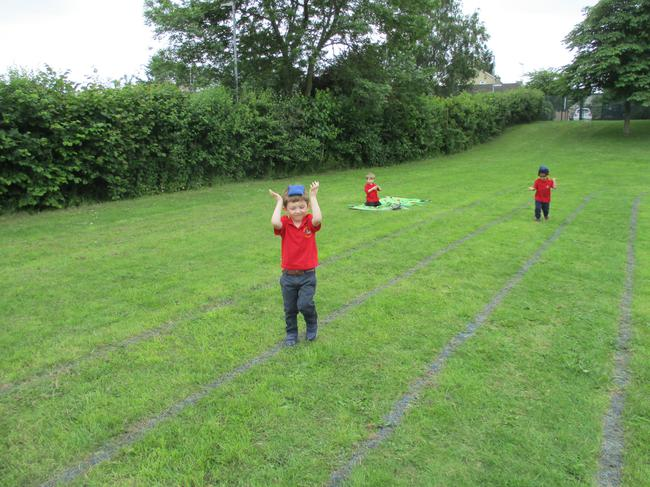 Practicing for Sports Day!