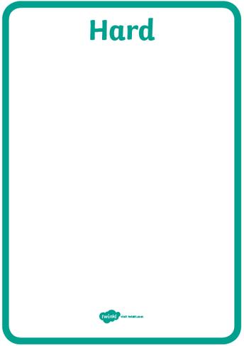 Grown-ups - please create a 'hard' and 'soft' sheet like these.