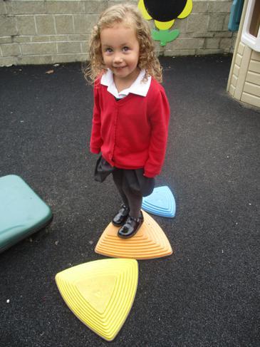 Practicing our balancing skills