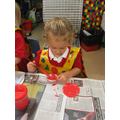 Making our poppy!