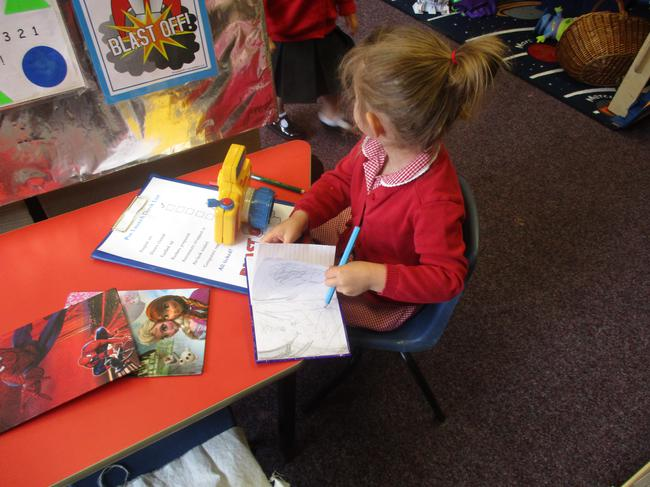 Writing about our space missions!