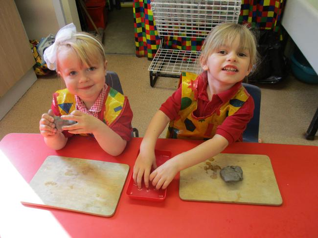 Experimenting with clay