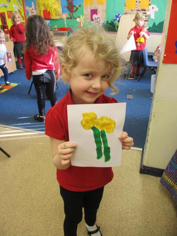 I am proud of my daffodil painting!
