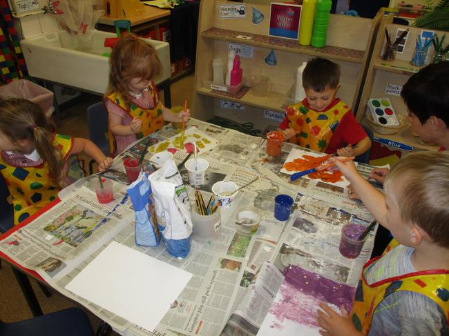 We created different textured paint!
