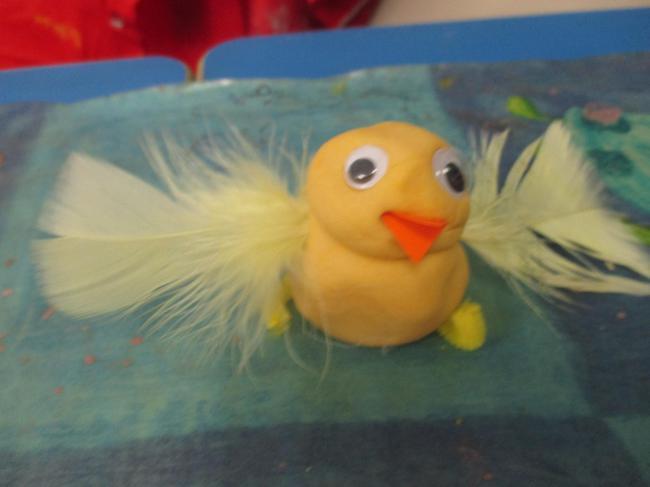 Playdough chick