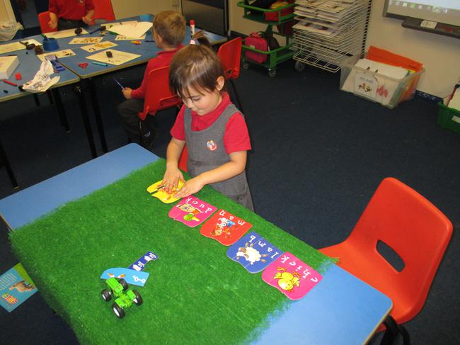 We played farm wordbuilding puzzles