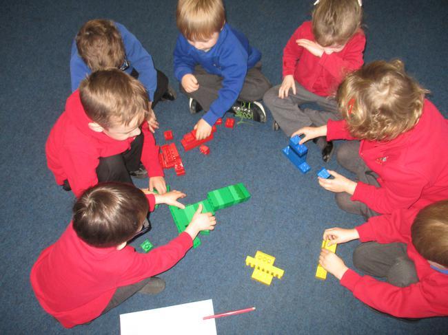 We sorted bricks into groups